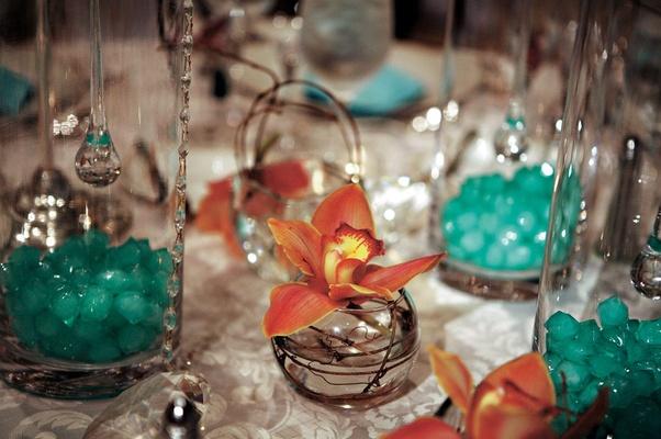Chic Tiffany Blue Atlanta Celebration With 4 Foot Wedding Cake