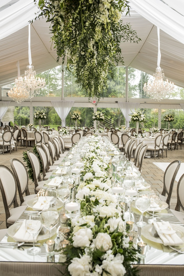 Romantic Garden Wedding With White Amp Green Motif In Cincinnati