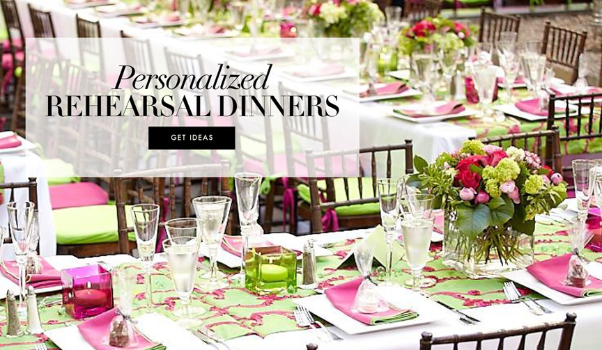 Rehearsal dinner personalization and theme ideas