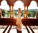 Bride on Moroccan balcony at The Grand Del Mar