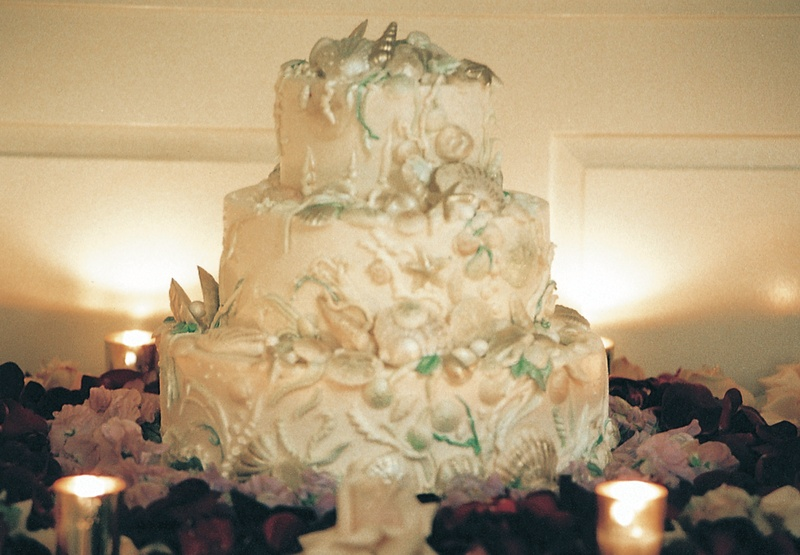 Cakes & Desserts Photos - Ocean-Inspired Wedding Cake - Inside Weddings