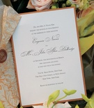 Burnt orange classic wedding invitation