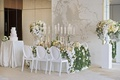 wedding inspiration greenery, yellow and white color scheme, marble details