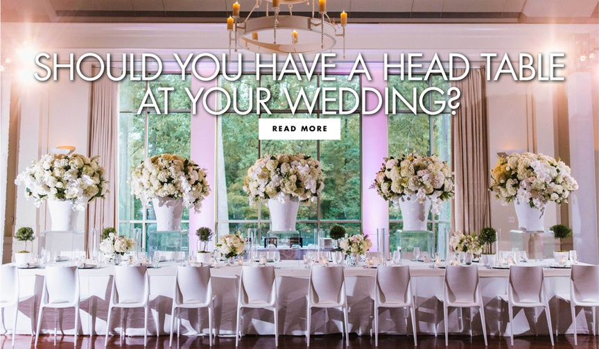should you have a head table at your wedding pros and cons of a head table