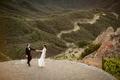 malibu rocky oaks wedding, bride and groom dance on helipad
