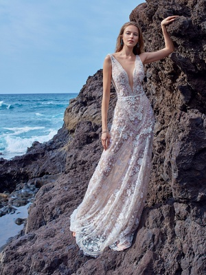 646c0096b68 GALA No. V 5 Collection by Galia Lahav wedding dress v neck plunging wedding  dress