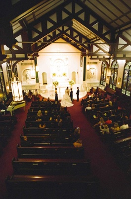 Traditional ceremony in classic church