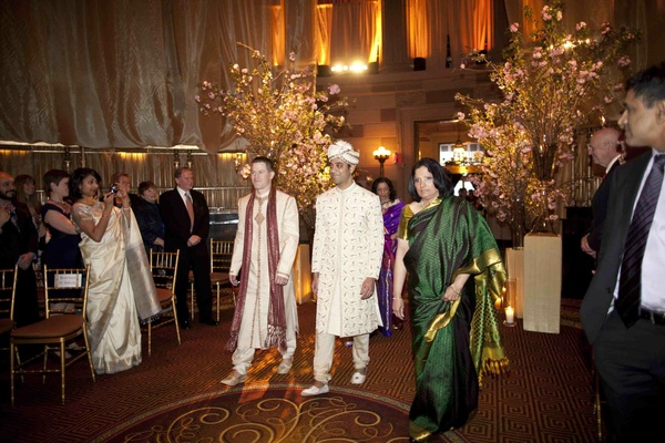 Groom enters Hindu Indian wedding ceremony