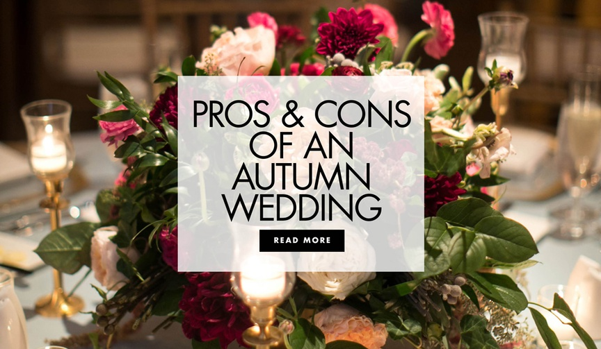 pros and cons of a fall wedding, should you get married in the fall?