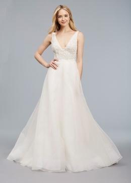 Blue Willow Bride Spring 2018 bridal collection Jean wedding dress silk v neckline a line gown