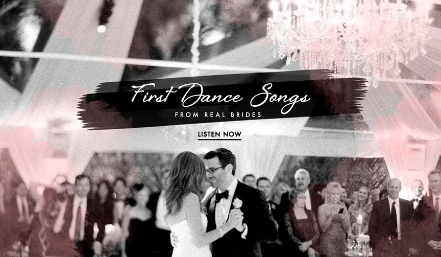 First dance songs from real brides and grooms