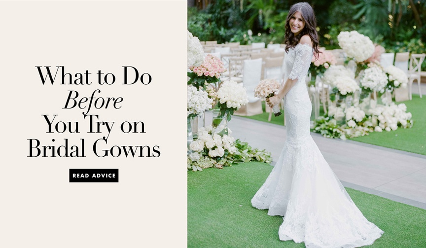 what to do before shopping for a wedding dress