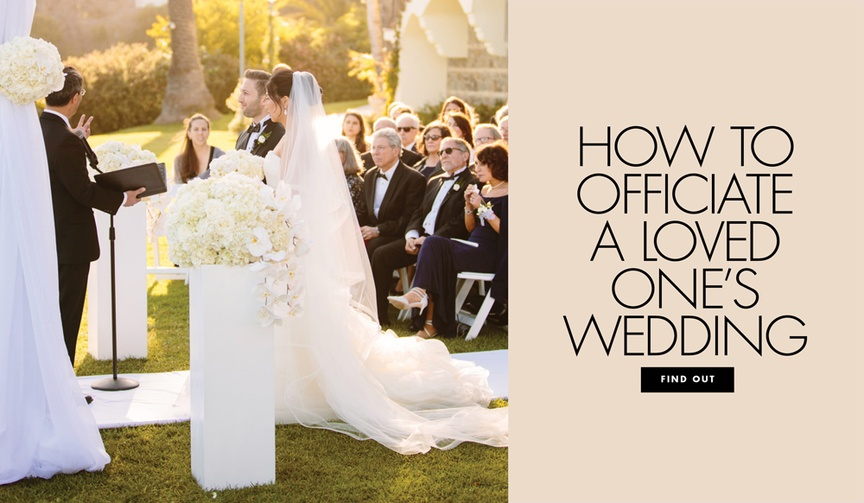 How to officiate a loved ones wedding friend family member