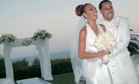 Lisa Coffey and Demetrius Spencer at wedding