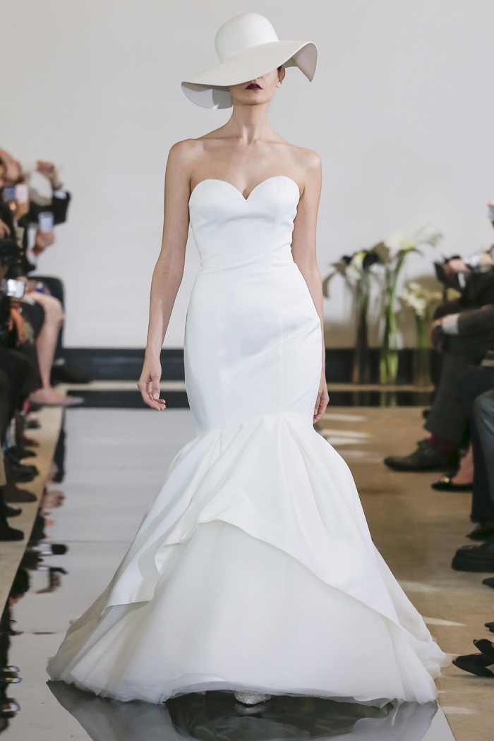 Wedding Dresses Photos - Satin Mermaid Gown by Justin Alexander ...
