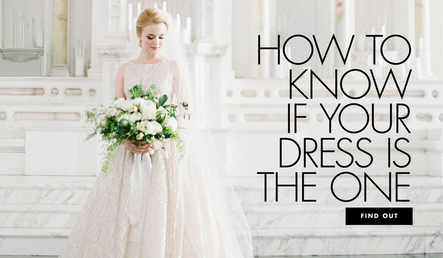 how to know if your wedding dress is the one
