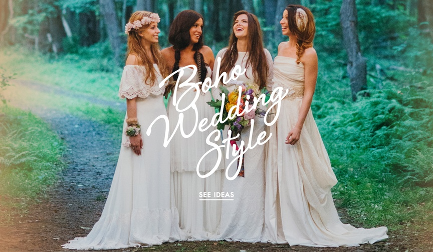 Boho wedding ideas for nature inspired events