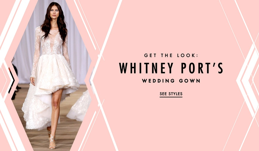 Whitney Port wedding dress get the high-low gown look