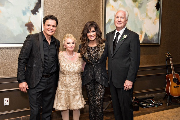 Donnie and Marie Osmond at vera and paul guerin 50th anniversary party reception