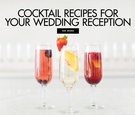 Cocktail recipes for your wedding reception and cocktail hour from Sourced Craft Cocktails