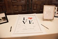 guestbook poster thumbprint heart couple's thumbs in the O signing personalized alternative