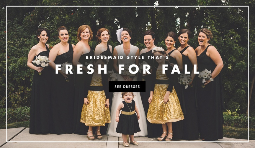 Bridesmaid dress style inspiration for autumn weddings.