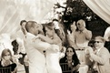 Black and white photo of couple's first dance