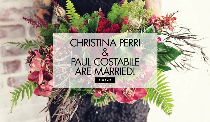 Christina Perri and Paul Costabile are married see their wedding photos and more about their engagem