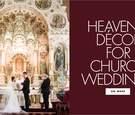 Heavenly decor for church weddings house of worship sanctuary church wedding ideas