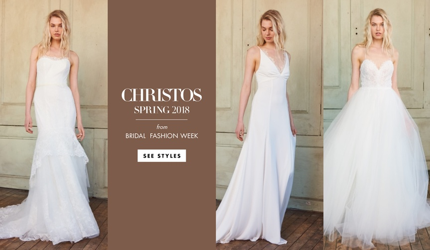 Christos spring 2018 bridal collection wedding dresses Amsale collection