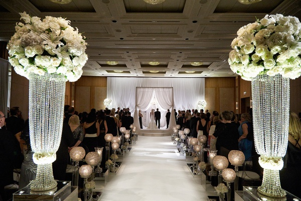 Elegant Wedding With Classic Black White Color Palette