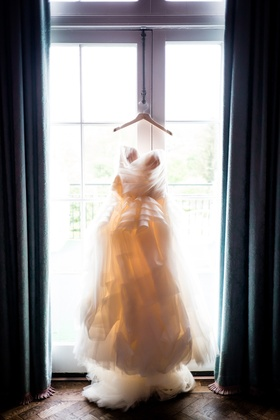 voluminous ball gown hanging window southern wedding vera wang west virginia layers
