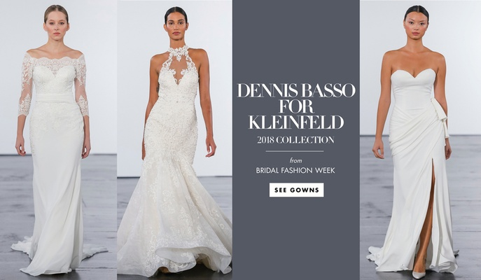 See more wedding dresses from the 2018 bridal collection by Dennis Basso for Kleinfeld.