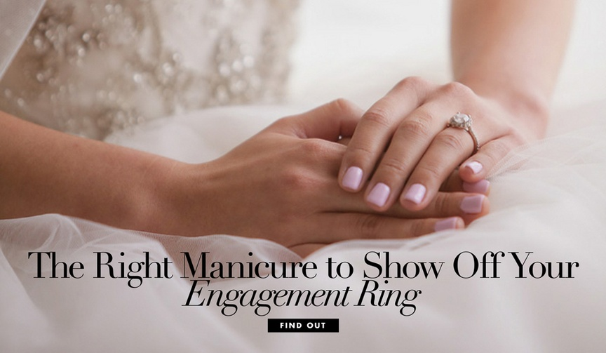 What manicure color will best show off your engagement ring?