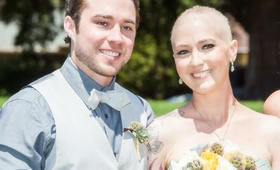 Jen Bulik lung cancer wedding with groom
