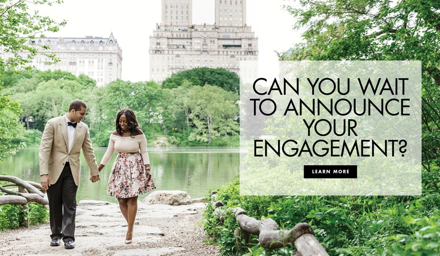 Can you wait to announce your engagement or should you do it right away?