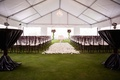 Silverleaf Club wedding ceremony with tent and flower petal aisle