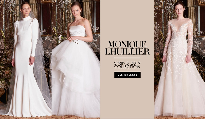 bridal fashion week: Monique Lhuillier Spring 2019