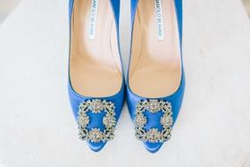 Wedding shoes bright blue royal blue heels crystal buckle wedding shoe ideas