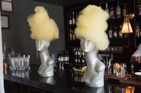 cotton candy mannequin wigs unique dessert new york city bridal shower bar top
