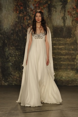 empire waist titania gown with cape by jenny packham