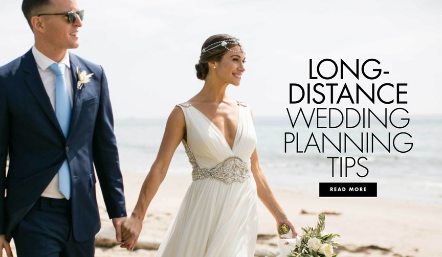 Long-distance planning tips for weddings when couples aren't planning in the same city or state