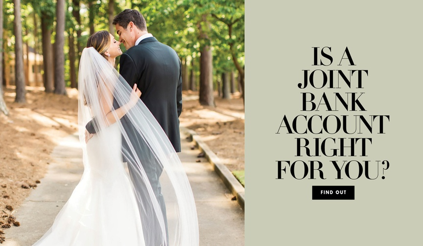 should you have a joint bank account after you get married