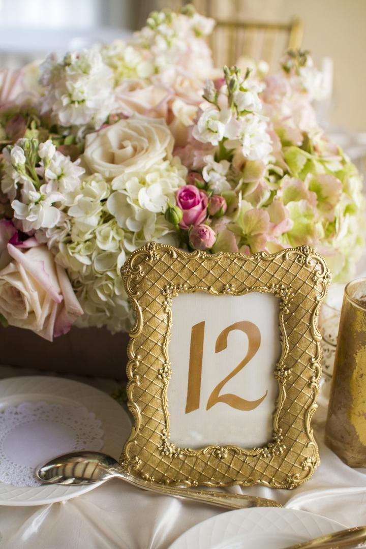 Reception Décor Photos - Framed Table Numbers - Inside Weddings