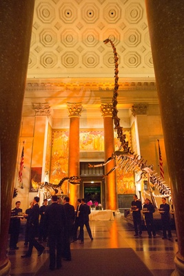 Wedding cocktail hour at the American Museum of Natural History, NY