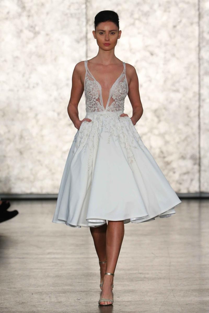 Silver Short Wedding Dresses