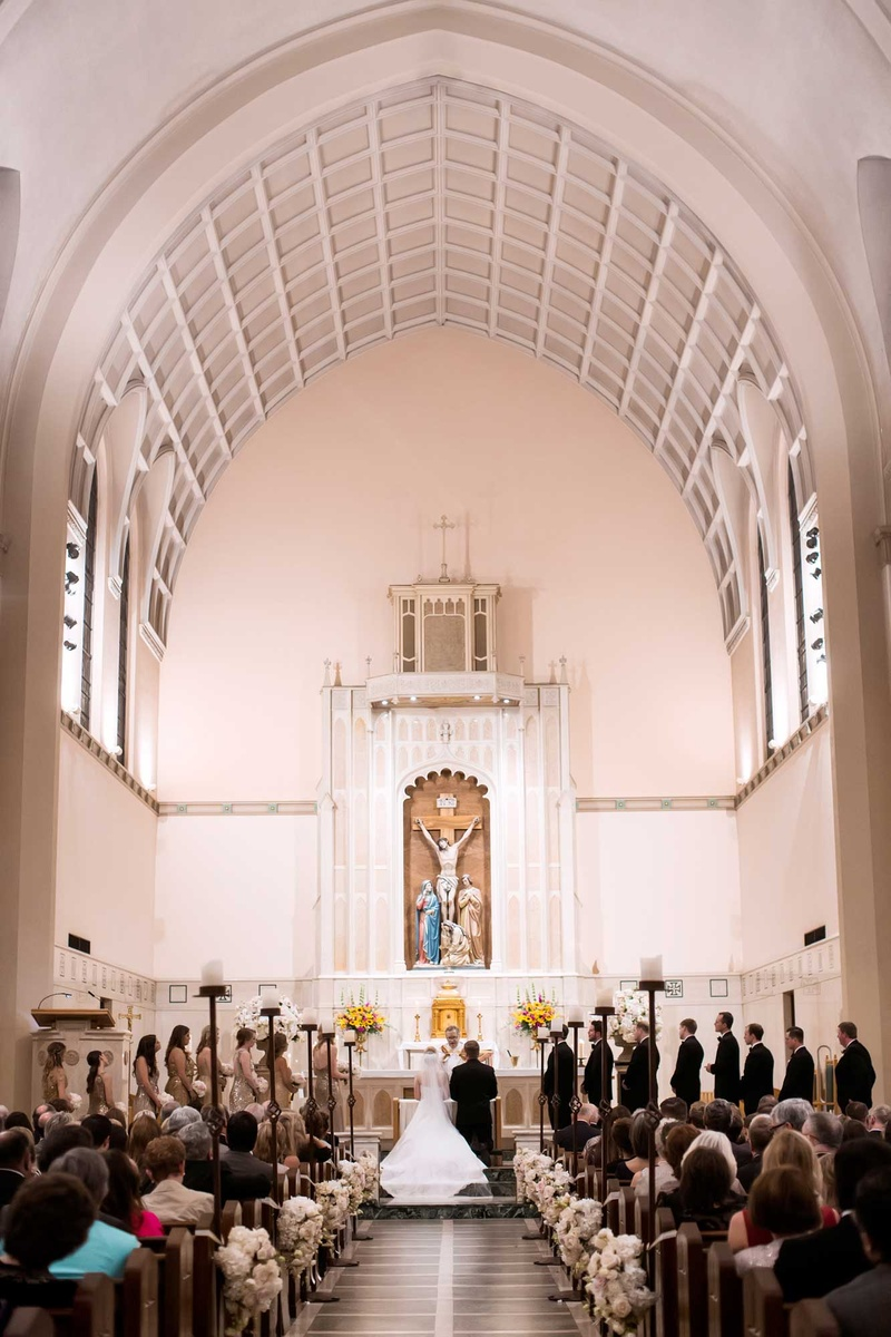 Wedding Ceremony Catholic Church Dallas Texas Christian Traditional Jesus Cross Marriage