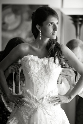 Black and white photo of Samuel Cirnansck gown