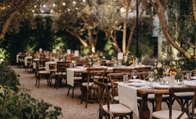wedding reception rustic wood tables linen runner short centerpieces vibiana redbird venue