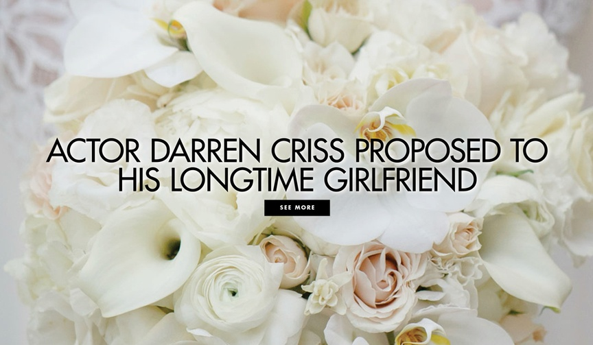 Actor Darren Criss proposed to his longtime girlfriend Mia Swier